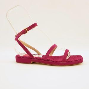 Stuart Weitzman Purple Ankle Strap Sandals 7